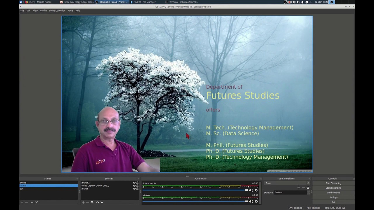 How to create academic videos using free software.